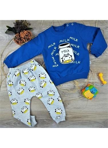 POKY Anılço Baby Milk Desen 2'Li Bebek Takımı-772 Mavi